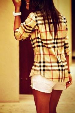 burberry. love the top!