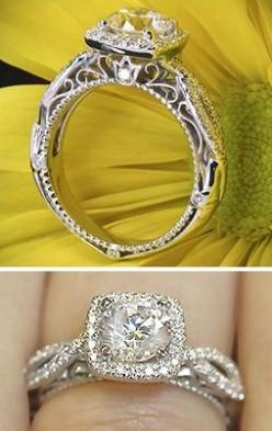 holy crap...this is so beautiful! With princess cut instead of round