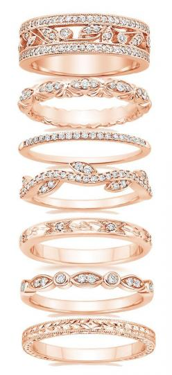 Just do an extra beautiful rose gold wedding band (and still get all white gold engagement and matching wedding band): Rose Gold Band, Engagement Band, Rose Gold Wedding Ring, Rose Gold Engagement Ring, Wedding Bands, Wedding Ring Band, Rose Gold Wedding