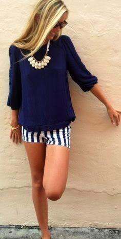 Navy blue top for summer