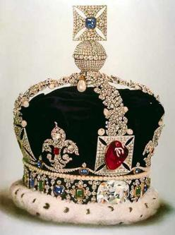 """The large """"ruby"""" in the English Crown Jewels is actually a red spinel.  Spinels come in many colors."""