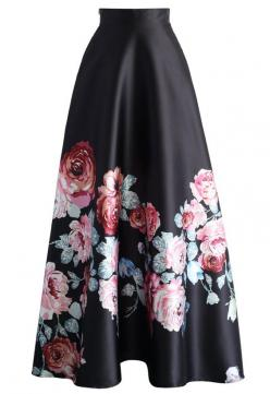 Endless Blooming Rose Maxi Skirt - New Arrivals - Retro, Indie and Unique Fashion: Maxi Dresses, Retro Indie, Fashion, Clothes, Closet, Maxi Skirts