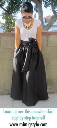 Maxi Skirt made w/silk dupioni from @Mimi B. B. B. B. Goodwin. Can I do it by spring break? sure gonna try!: Skirt Sewing Pattern, Sewing Maxi Skirt, Sew Maxi Dress, Black Maxi Skirt, Diy Maxi Dress, Diy Maxi Skirt, Maxi Skirt Pattern
