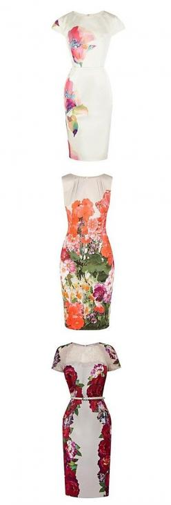 Pretty floral graphic prints on pencil dresses are absolutely amazing! So chic and understated to keep it classy/ Click for more styles!: Pretty Pattern, Dress Pattern For Beginners, Dresses Pretty, Bridesmaid Dresses, Bridesmaids Dresses, Pencil Dresses,