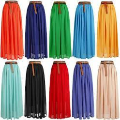 $11 Maxi Skirts, that's the mass produced price. I wonder how much it would cost to make one myself?: Pleated Maxi Skirt, Colorful Maxis, Chiffon Maxi Skirt, Knee Length Skirt, Dresses Skirts, Cheap Maxi Skirt, Maxi Skirts
