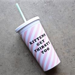 ban.do sip sip tumbler with straw - ticket stripe (kittens get thirsty too): Bucket List, Мα Ιє, Divine Cats, Sip Tumbler, Ticket Stripe, Sip Sip, Stripe Kittens, Straw Ticket