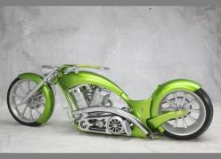 "Bring out the long bike!  2009 Custom Motorcycle KW CUSTOMS ""The Green Mile"": Badass, Color, Custom Motorcycles, Chopper Motorcycles, Motorz Running, Motorcycle Handlebars, Motorcycle Kw, Motorcycle S"