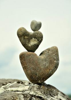 Change is the law of life. And those who look only to the past or present are certain to miss the future.  -John F. Kennedy: Stacked Heart, Nature S Heart, Rock Hearts, Heart Rocks, Things Heart, Heart Cairn