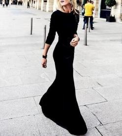Class: Long Black Dress, Classy Black Dress, Black Maxi Dress, Long Sleeve Maxi Dress, Dresses Long Sleeve, Maxi Dress Long Sleeve, Long Sleeve Black Dress