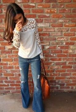 East Coast Queen: Boho Outfit, Wide Leg Jean, Lace Tops, Dream Closet, Cute Outfits, Fall Winter