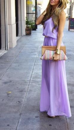 lavandar maxi gorgeousness // + her hair is so pretty!: Maxi Dresses, Summer Dress, Color, Spring Summer, Maxidress, Purple Dress