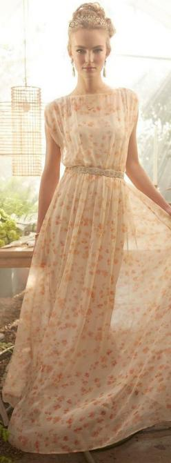 Peach blossom maxi- I absolutely LOVE this! I would wear this on my wedding day :-): Maxi Dresses, Summer Dress, Flowing Dress, Peach Blossoms