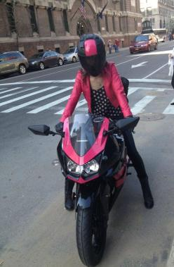 pink & black, fashionable! #motorcycle_fashion #Woman_Biker HelmetCity.com: Girls On Bikes, Biker Girls, Bikerbabes Ladyriders, Girl Motorcycle, Motorcycle Girls, Motorcycles N17Dg, Cars Motorcycles Trains, Horsepower Motorcycles, Girlsonbikes Bikerba