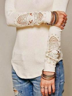 Sleeve / Accessory Detail: Dream Closet, Lace Detail, Lace Sleeves, Lace Insert, My Style