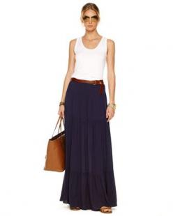Slim Tank & Tiered Maxi Skirt by MICHAEL Michael Kors: Summer Styles, Summer Michael, Michael Michael, Casual Skirts, Michael Kors, Long Skirts, Long Black Skirts, Summer Skirts, Maxi Skirts