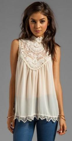 This top would look better with the hair up. Absolutely love it though.: Cute Tops, Lace Tops, Dream Closet, Lace Blouse, Spring Summer, Fall Outfit, Pretty Top