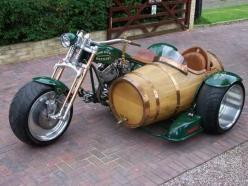 ★ Unique motorcycle Cask side car cool..... ❤ www.healthylivingmd.vemma.com ❤: Harley Davidson, Side Cars, Barrel Sidecar, Wine Barrels, Cars Motorcycles, Motorcycle Sidecar, Motorcycles Scooters