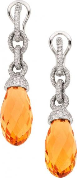 {Daily Jewel} Tiffany & Co. Beryl, Diamond, & Platinum Earrings