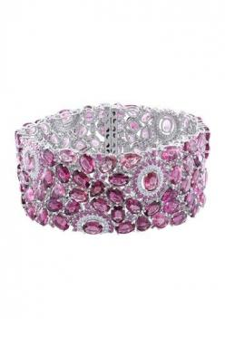 HOLY WOW!!!! 14K White Gold Diamond, Pink Tourmaline & Pink Sapphire Bracelet by Red Carpet Ready: Fine Jewels on @HauteLook