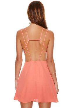 Nasty Gal Liza Dress - Day | Going Out | Fit-n-Flare | Solid | Dresses | Bright and Graphic