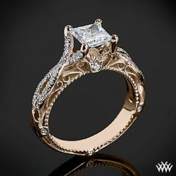 Rose Gold Verragio Pave Twist Diamond Engagement Ring from the Venetian Collection. love the vintage feel