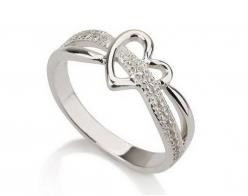 Silver Heart Ring Love Ring Heart Promise Ring by MyPersonalized, $35.99(Purity ring.)