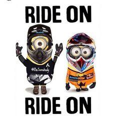 Dirt bike minions! Yes please!! http://www.mx1.co.uk/motocross-gear/