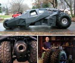 Guy Builds Homebrew Batman Tumbler – Becomes King Of The Internet For A Day: Builds Batman, Cars Motorcycles, Batman Fantastic, Batman S Tumbler, Bat Tumbler, Batman S Vehicles