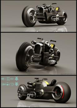 Ixlrlxi is a Russian concept artist who likes to model retro-futuristic-looking vehicles in SketchUp and render them with VRay.: Insane Motorcycles, M3 Sunrise, 600V Deviantart, Concept Motorcycles, Cars Bikes, Concept Bike, Concept Cars, Cars Motorcycles