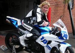 Jenny Tinmouth- the first woman to win a British Supersport Cup race and the World's Fastest Woman around the Isle of Man TT. She's also the part-owner and full time mechanic at the Two Wheel Workshop, near Liverpool.: Biker Chick, Motorbike, Wheel Worksh