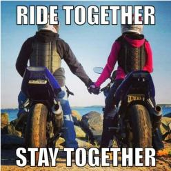 Motorcycle - sportbike - rider - quote ride together stay together: Motorcycle Gear, Dirtbikes Girlfriend, Biker Quotes, Sportbike Rider, Motorbike Quotes, Motorcycle Quotes, Bike Stuff