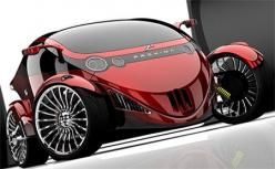 proxima the car bike hybrid concept  (a two-seater hybrid vehicle with a car view in front and a motorcycle look at the rear): Cherry Bikes Cars, Proxima Concept, Cars Bikes Vintage, Topics Autos Concept Cars, Design Blog, Futuristic Cars