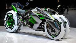 The new Kawasaki J Three Wheeler EV—presented 11.21.2013 at the Tokyo Motor Show 2013: Kawasaki Bike, Concept Motorcycle, Awesome Motorcycle, Cars Bike, Concept Vehicle