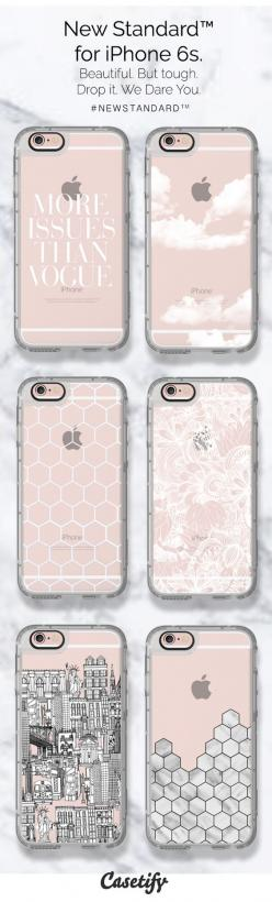 Minimalist & Chic. Pre-order these New Standard  phone cases for your iPhone 6S here- http://www.casetify.com/artworks/ynBAfffVgB
