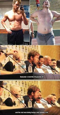 Dump A Day Funny Pictures Of The Day - 68 Pics: Chrispratt, Guardians Of The Galaxy, Weight Loss, Funny Pictures, Chris Pratt, Guardians Of Ga'Hoole, 40 Pounds, Losing Weight