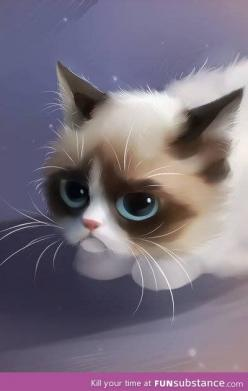 Grumpy cat. :): Cats, Animals, Grumpycat, Art, Tardarsauce, Grumpy Cat, Grumpy Things