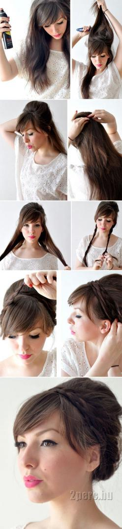 diy hair idea braided updo - @Becky Gilbert i like this for me for ya wedding! what do you think? {i may not even be able to do it cause my hair is short}