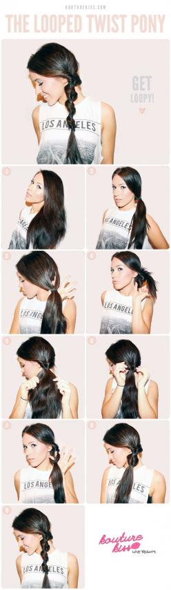 DIY Looped Twist Pony Pictures, Photos, and Images for Facebook, Tumblr, Pinterest, and Twitter