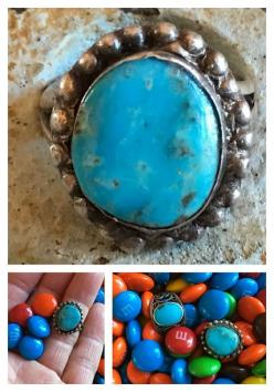 Rustic Navajo Turquoise Ring Sterling Silver – Yourgreatfinds