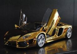 This Gold Lamborghini Aventador is One of the Most Expensive Cars Ever #Daytona500 #Cars: Gold Lamborghini, Supercar, Exotic Car, Dream Cars, Auto, Most Expensive, Lamborghini Aventador