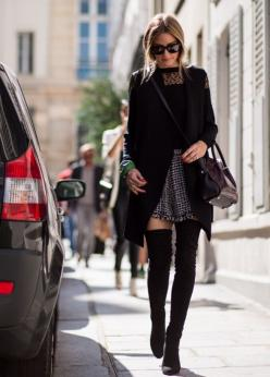 AUTUMN STYLE: Over the knee boots - pair yours with a floaty oversized jacket, simple top and statement skirt for an effortless, yet put together look. Tie your hair in a messy low bun and throw on some oversized sunnies for extra style points!
