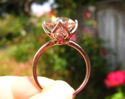Old European Cut OEC Morganite Engagement Ring in by JuliaBJewelry