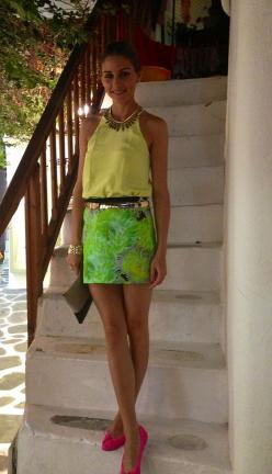 This outfit!   Snapped: Vacationing in Greece
