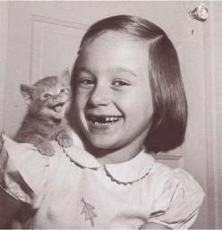 Cat and little girl.  so cute.: Cats, Picture, Photos, Kitten, Animals, Girl, Vintage, Happy, Smile