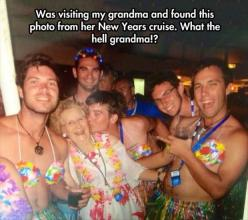 Funny Pictures Of The Day 91 Pics: Giggle, Hell Grandma, Funny Pictures, Funny Stuff, Funnies, Cruise, New Years