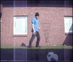 (it's a GIF so you have to click the link) THIS IS HILARIOUS. the cat thought he was a bad ass until...