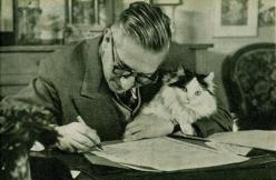 "Jean-Paul Sartre with ""Nothing"": Cat People, Cats, Famous People, Jean Paul Sartre, Jeans, Book, Writers"