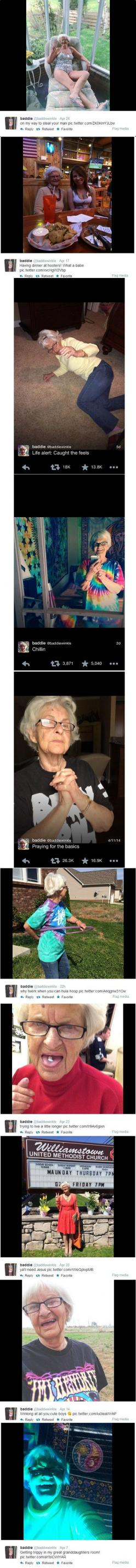 This is the best thing ever... never will I ever stop reblogging this: Giggle, Coolest Grandma, Funny Stuff, Life Goals, Modern Grandmas, Awesome Grandma, Old Friends Funny