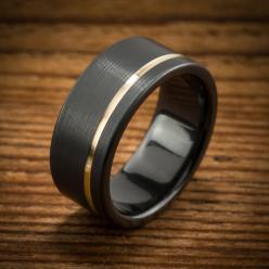 Spexton black zirconium wedding bands are:  Extremely durable, shatterproof, totally handmade to order in the USA, customizable, easy to cut off if necessary, and unlike ANYTHING you can buy at a jewelry store (except the Spexton store).: