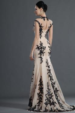 """*This dres is so gorgeous, I had to """"Pin"""" the look of the back of it as well. Looove it! *  eDressit 2012 New Gorgeous Black Lace Evening Dress"""